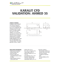 KARALIT CFD Validation: Ahmed 35
