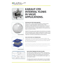 KARALIT CFD Internal Flows in Valve Applications